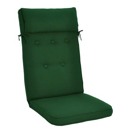Woodline position med kudde grön